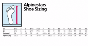 BOOTS SIZE CHART